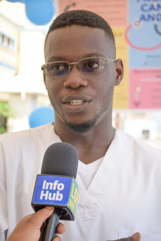 President of the University of Guyana's Medical Students Society (UGMSS), Nicholas Elliot