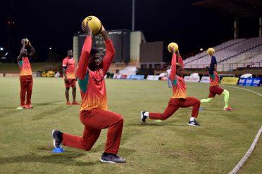 Guyana Amazon Warriors team after the match