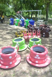 Some of the equipment for the play park