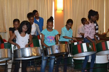 Participants of the Music Literacy Programme preforming