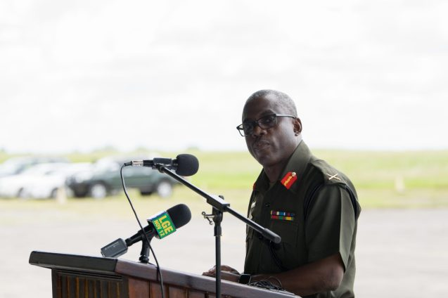 Chief of Staff of the GDF Brig. Patrick West