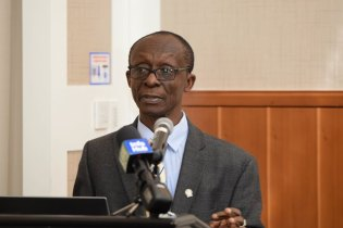 PAHO/WHO Country Representative, Dr. William Adu-Krow.