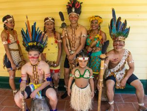 Members of the Indigenous dance troupe