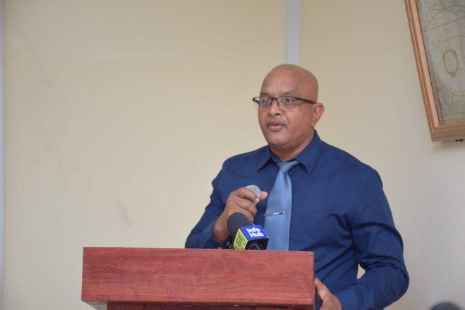 President of the Corentyne Chamber of Commerce, Poonai Bhigroog