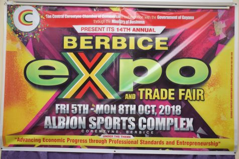 A banner showcasing the theme for Berbice Expo and Trade Fair 2018