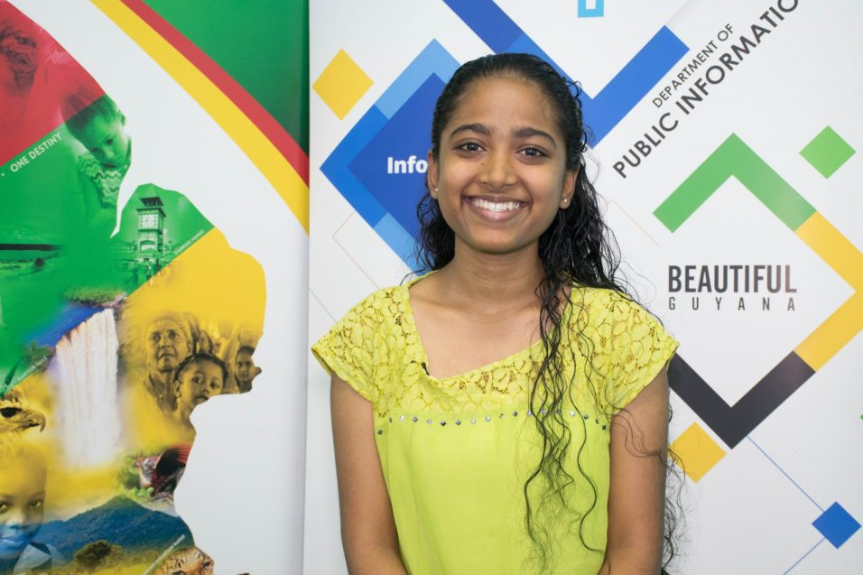 Queen's College student, Yoshoda Samaroo who secured 15 Grade Ones at CSEC