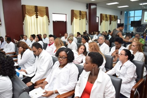 Some of the Cuba-trained doctors of the 2018 batch.