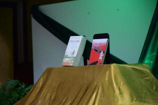 Scenes at the University of Guyana (UG) book launch.