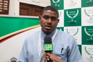 Youth Minister of State, University of Guyana student, Trevon Chichester