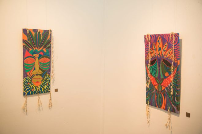 Some of the art work displayed at the exhibition