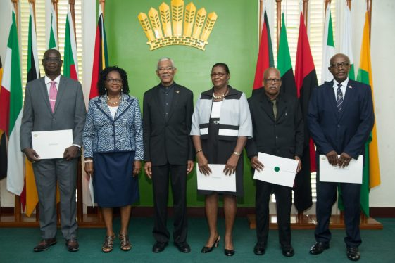 President David Granger and members of the Police Service Commission (PSC)