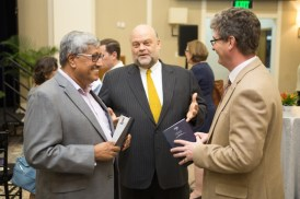 US Ambassador to Guyana, Perry Holloway shares a light moment with members of the diplomatic corps