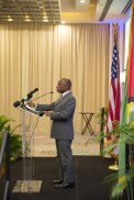 : Minister of Foreign Affairs, Carl Greenidge who is also performing the duties of Prime Minister