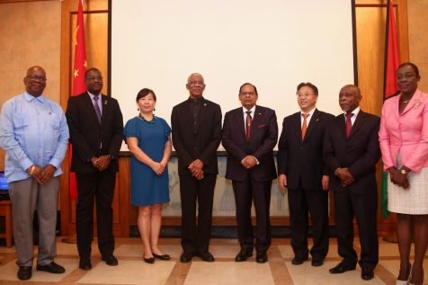 President David Granger, Prime Minister Moses Nagamootoo and other Ministers of Government