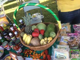 Fresh produce on display
