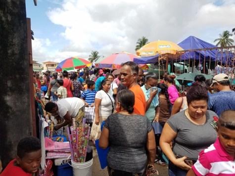 Parika Market in full swing.