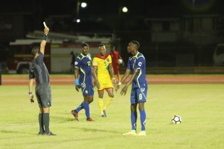 Some of the action between Guyana and Barbados.