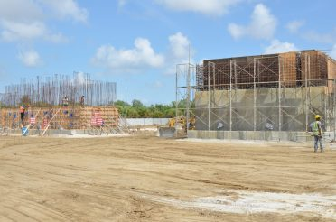 Ongoing works at the Sheet Anchor treatment plant