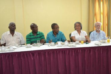 Some senior editors and tourism personnel at the Tourism breakfast meeting