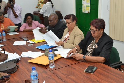 Officials from the Ministry of Education at the meeting.