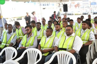 A section of trainees currently in the Third Program – Safety & Operational Oilfield Training Program.
