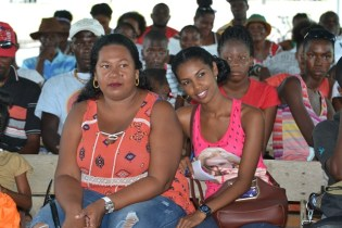 Participants during the sensitisation programme.
