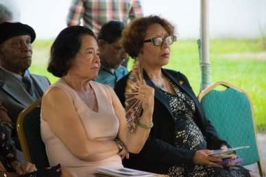 First Lady Mrs. Sandra Granger and Minister within the Ministry of Indigenous Peoples' Affairs, Valerie Garrido-Lowe among those who attended the event.