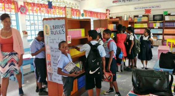 Child-friendly library at Goed Fortune Primary