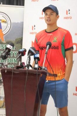 Australian Cricketer and Captain of the Amazon Warriors Team, Chris Green.