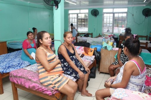 Some of the mothers to benefit from the Maternity Waiting Home at the Indigenous Residence, Princess Street, Georgetown.