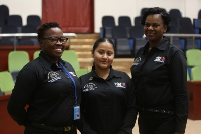 [In the photo, from left to right] Director of Youth, Melissa Carmichael-Haynes, Senior Research, Planning and Development Officer, Adeti De Jesus and Assistant Director of Youth, Leslyn Boyce.
