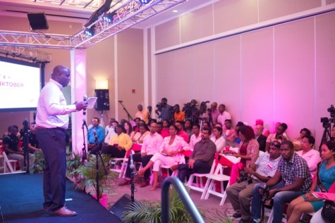 Chief Executive Officer of Guyana Telephone and Telegraph (GTT), Justin Nedd.