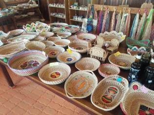 Indigenous handicraft on display.