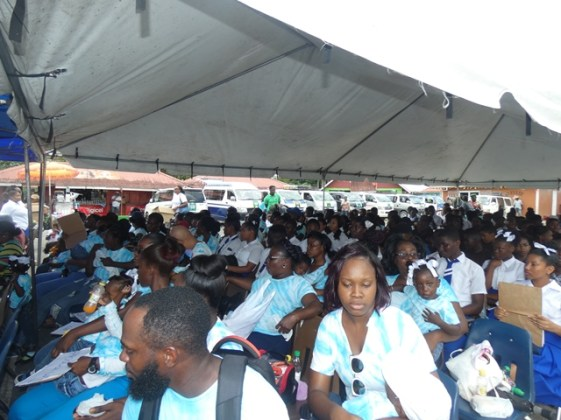 A section of the audience.