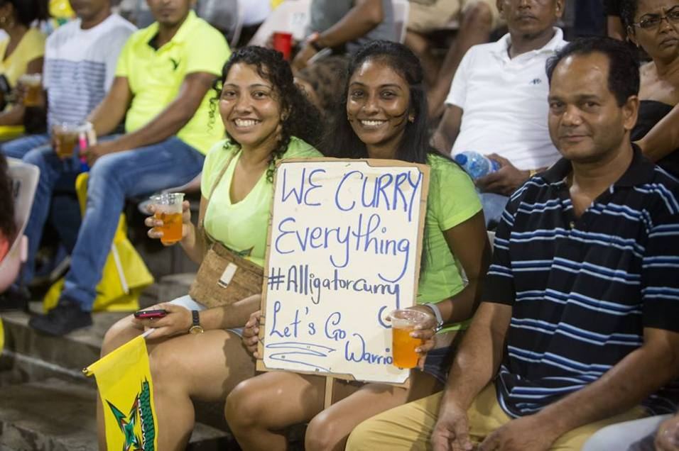 Capacity crowd and dedicated fans at the National Stadium supporting the Amazon Warriors