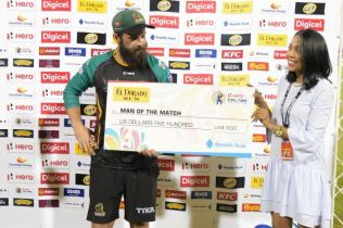 Anton Devcich is Man of the Match for his match winning performance 22 balls half century.