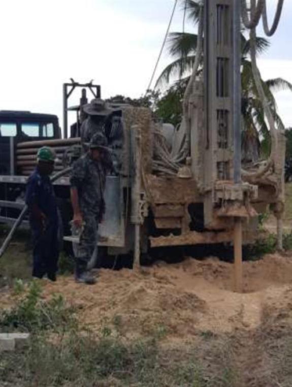 Drilling at Awarewanau Village