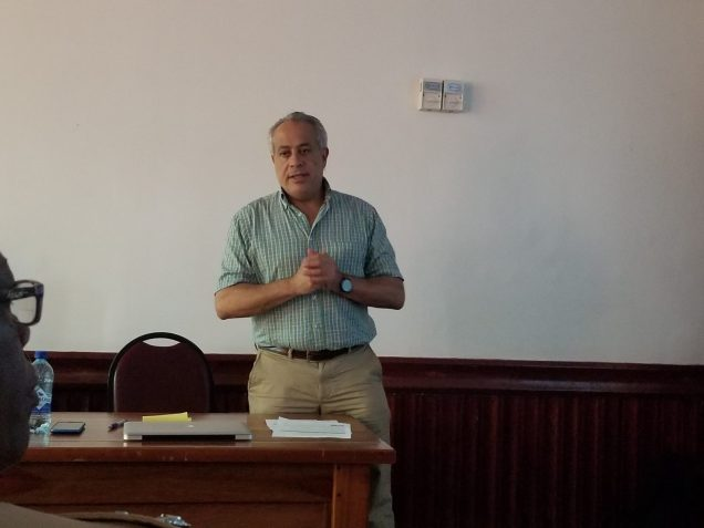 DRM expert, Dr. Fernando Aragon addressing the stakeholders at the Region Six consultation