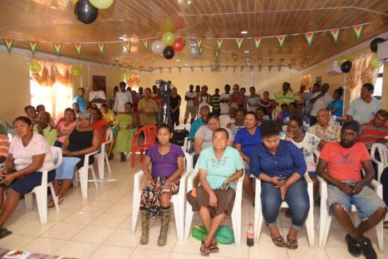 Residents at the community meeting.