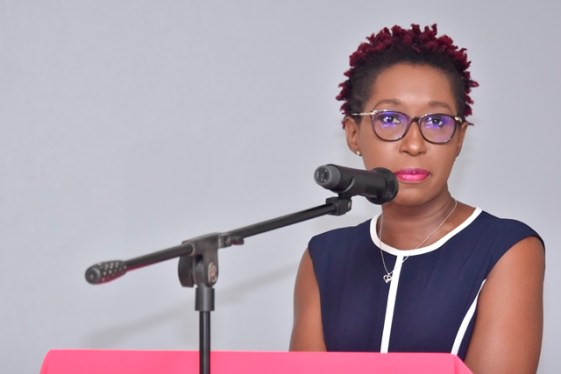 Head of the Office of Climate Change, Ms. Janelle Christian.