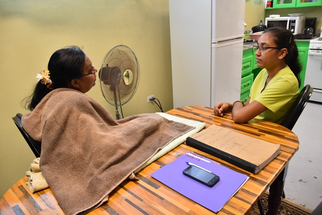 Afeeza Khan while she was at the GPHC with an Orthopedic patient, she has recently been transferred to the Palms Rehabilitation Centre.