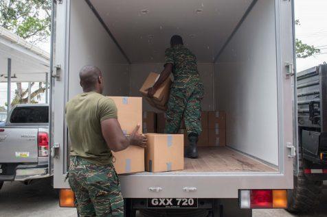 Hampers being packed for Venezuelan migrants in Region One
