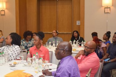Participants of the Juvenile Justice Sensitisation Session held at the Marriott Hotel, Kingston, Georgetown.