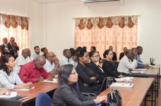 Participants at the training course at the Police Officer's Training Academy.