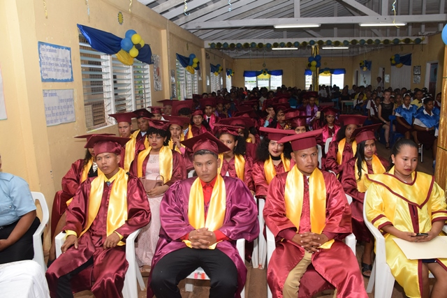 A section of the 2018 graduation class of the North West Secondary school.