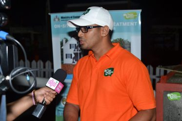 Engineer within the Sanitation Management Unit of the Ministry of Communities Satrohan Nauth