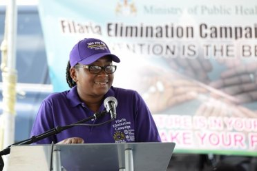 National Coordinator of Neglected Infectious Diseases Unit at the Ministry of Public Health, Dr. Fabu Moses-Stuart.
