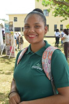 Student of the University of Guyana, Malika Russel