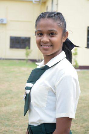 Student of Canje Secondary, Sheneeza Jadunandan