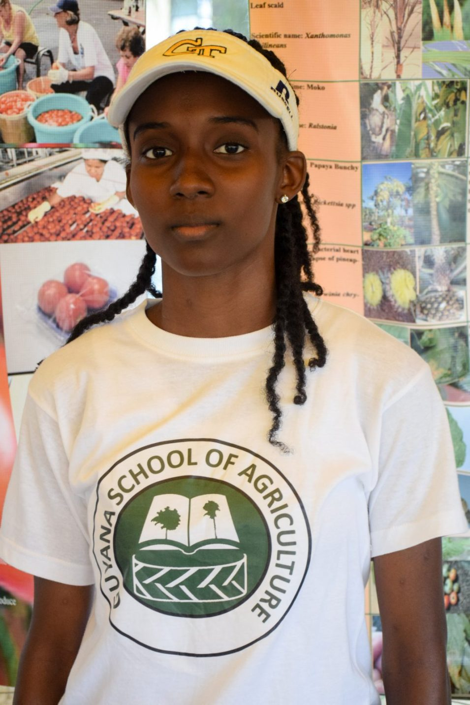 Student of the Guyana School of Agriculture, Demelza Nicholas